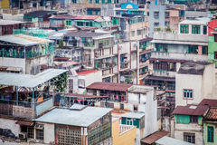 View of old town in Macau, Asia Royalty Free Stock Photo