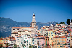 View of old town, Menton Stock Images