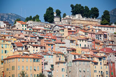 View of old town, Menton Stock Image