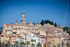 View of old town, Menton Royalty Free Stock Photos