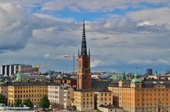 View of Old Town from Monteliusvägen Södermalm Royalty Free Stock Photography