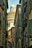 View of old town of Nice, Cathedral Sainte Reparate Stock Images
