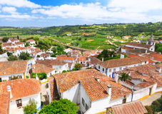 View of old town Obidos in Portugal Stock Image