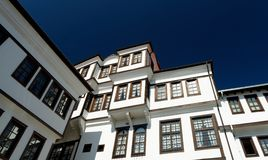 View on old town of Ohrid in Macedonia Royalty Free Stock Photography