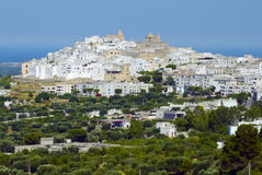 View of the old town Ostuni, Apulia Royalty Free Stock Photography
