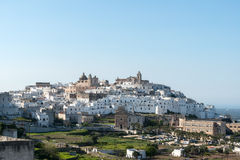 View of the old town Ostuni (Italy) Stock Photos