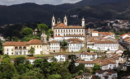 View of the old town of Ouro Preto, Brazil Stock Image
