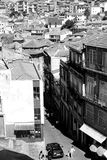 View of the Old Town of Porto. Portugal in black and white royalty free stock images