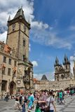 View of the Old Town of Prague Astronomical Clock Royalty Free Stock Image