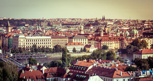 View of the old town with the Prague Castle Royalty Free Stock Photography