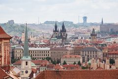 View of Old Town and Prague city center Royalty Free Stock Photos