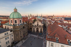 View of the Old Town in Prague in the early evening royalty free stock photo