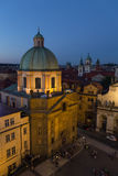 View of the Old Town in Prague at night royalty free stock images