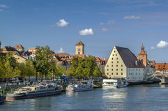 View of old town of Regensburg, Germany Royalty Free Stock Photo