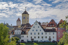 View of old town of Regensburg, Germany Stock Images