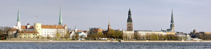 Panoramic view of Vecriga (Old Town), Riga - Latvia Royalty Free Stock Photography