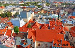 View of old town in Riga, Latvia stock photos