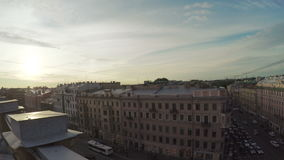 View from old town rooftops stock footage