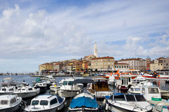 View of the old town of Rovinj Royalty Free Stock Images