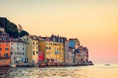 View on old town in Rovinj, Istria Stock Photos