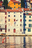 View on old town in Rovinj, Istria, Croatia Stock Images