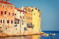 View on old town in Rovinj Royalty Free Stock Photo