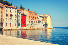 View on old town in Rovinj Stock Photo