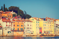 View on old town in Rovinj Royalty Free Stock Image