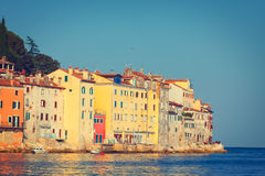 View on old town in Rovinj, Istria, Croatia Stock Photography