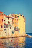 View on old town in Rovinj, Istria, Croatia Stock Photo