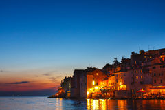View on old town in Rovinj, Istria, Croatia Royalty Free Stock Images