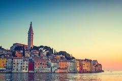 View on old town in Rovinj, Istria, Croatia Royalty Free Stock Photos
