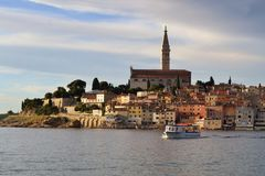 View of Old Town of Rovinj at sunset Royalty Free Stock Photography