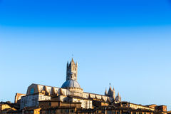 View of the old town of Siena, Italy Stock Images