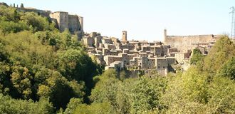 View of the old town of  Sorano. Tuscany, Italy Stock Photo