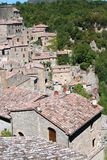 View of the old town of  Sorano. Tuscany, Italy Royalty Free Stock Photos