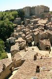 View of the old town of Sorano. Tuscany, Italy royalty free stock photo