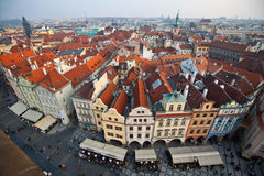 View from The Old Town Square of Prague City Royalty Free Stock Images