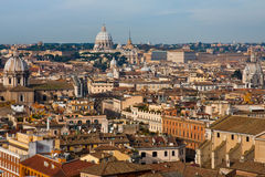 View on old town and St Peter Basilica Royalty Free Stock Photography