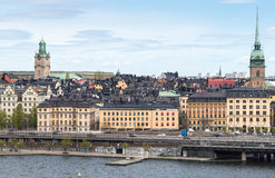 View of Old Town in Stockholm from south Stock Photos