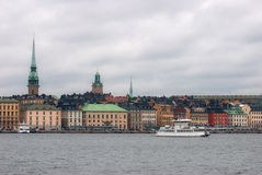 View of the old town of Stockholm. Stock Image