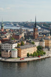 View of Old Town of Stockholm, Sweden. View of Old Town (Gamla Stan) in the center of Stockholm, Sweden Royalty Free Stock Images