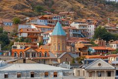 Tbilisi. Old city. View of the old town on a sunny day. Tbilisi. Georgia Stock Photography