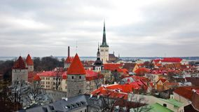 View of the old town. Tallinn, Estonia Royalty Free Stock Photography