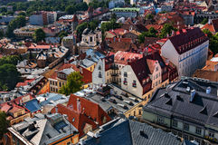 View of the Old Town of Tallinn from St. Olaf`s Church Tower. Tallinn, Estonia. Stock Image