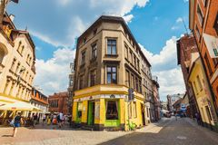 View of old town in Torun. Torun is birthplace of the astronomer Nicolaus Copernicus. Royalty Free Stock Photos