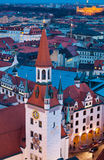 View of old town tower by night Stock Photography