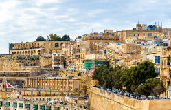 View of the old town of Valletta Stock Photo