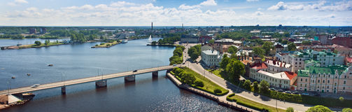 View from the old town of Vyborg Stock Photography