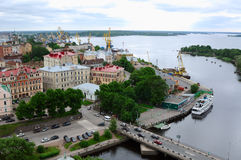 View of a Old Town Vyborg, Russia Royalty Free Stock Photo